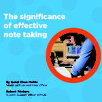 The significance of effective note taking